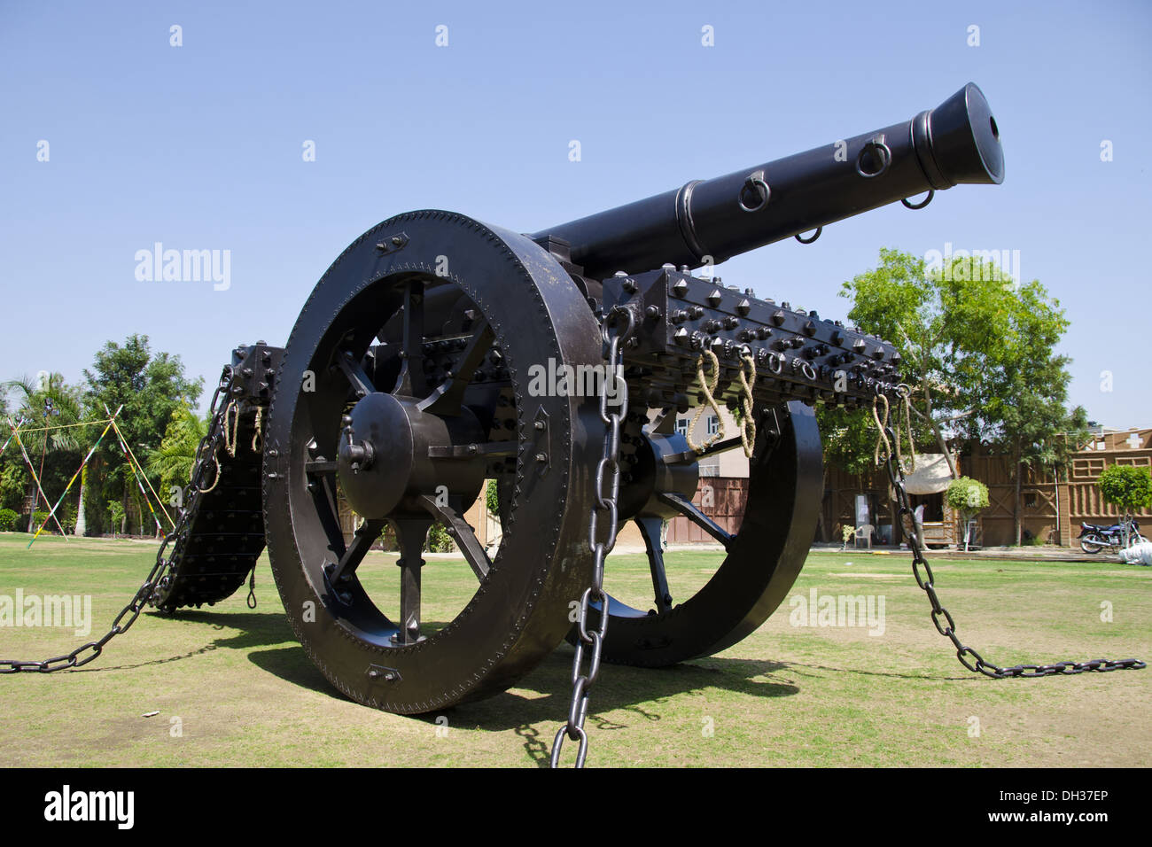 old antique cannon at Jodhpur Rajasthan India - Stock Image