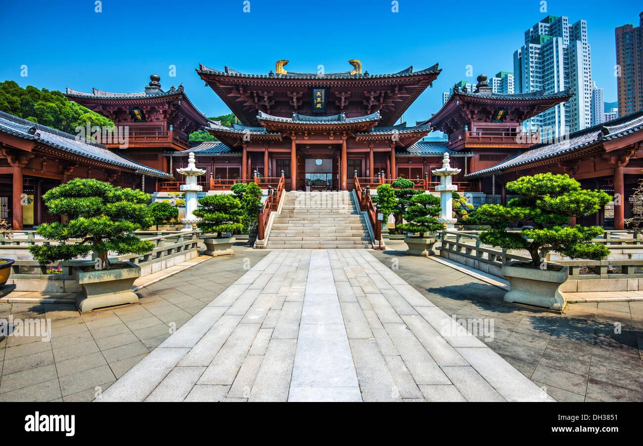 Chi Lin Buddhist Nunnery in Hong Kong, China. - Stock Image