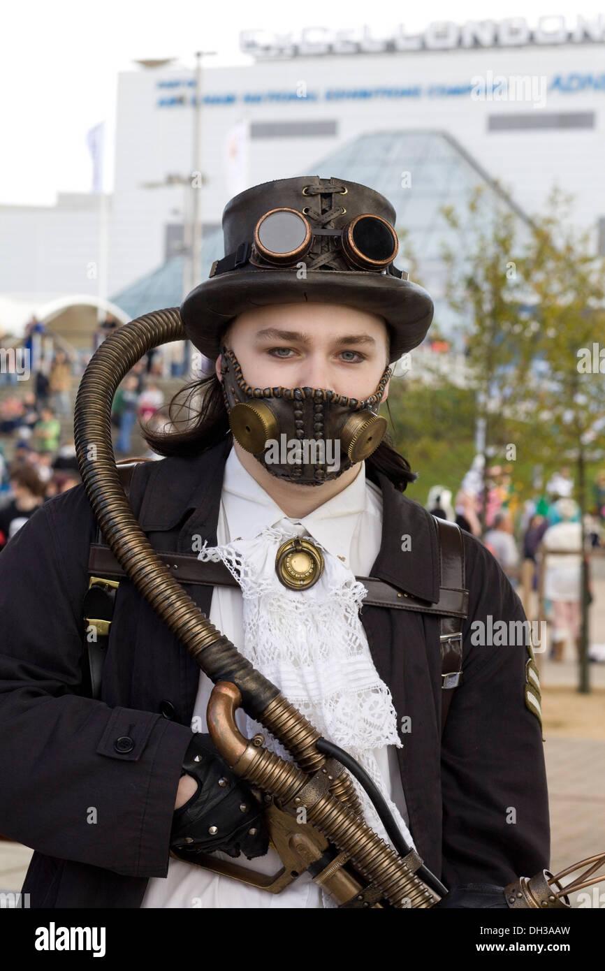 Comic con london 2013 steampunk stock image