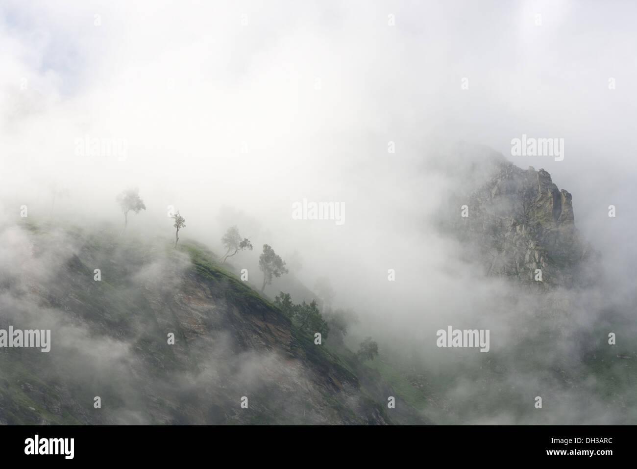 Shot taken at Manali-Leh Highway in India - Stock Image