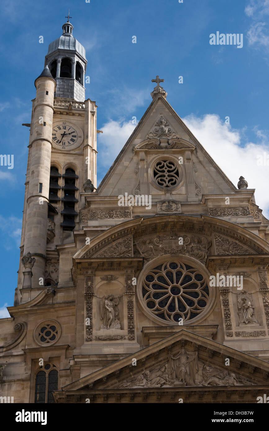 Gothic church of Sainte Genevieve on Paris' Rive Gauche, France - Stock Image