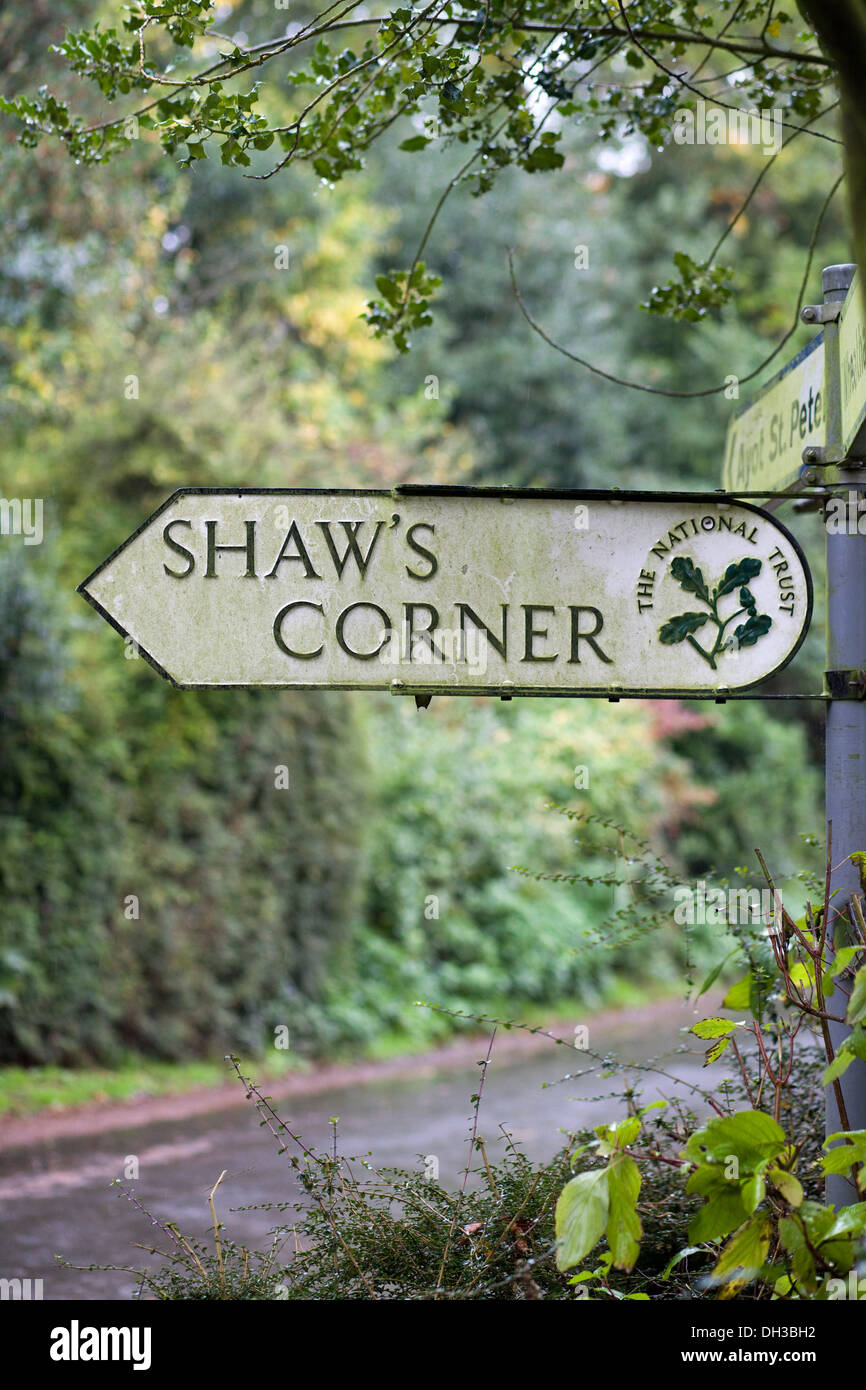 Shaw's Corner was the primary residence of the renowned Irish playwright George Bernard Shaw - Stock Image