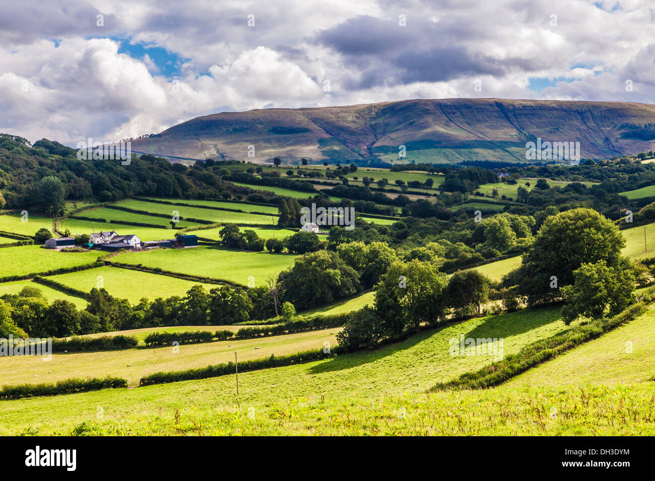 A stormy, showery summer's day in the Brecon Beacons National Park, Wales. Stock Photo