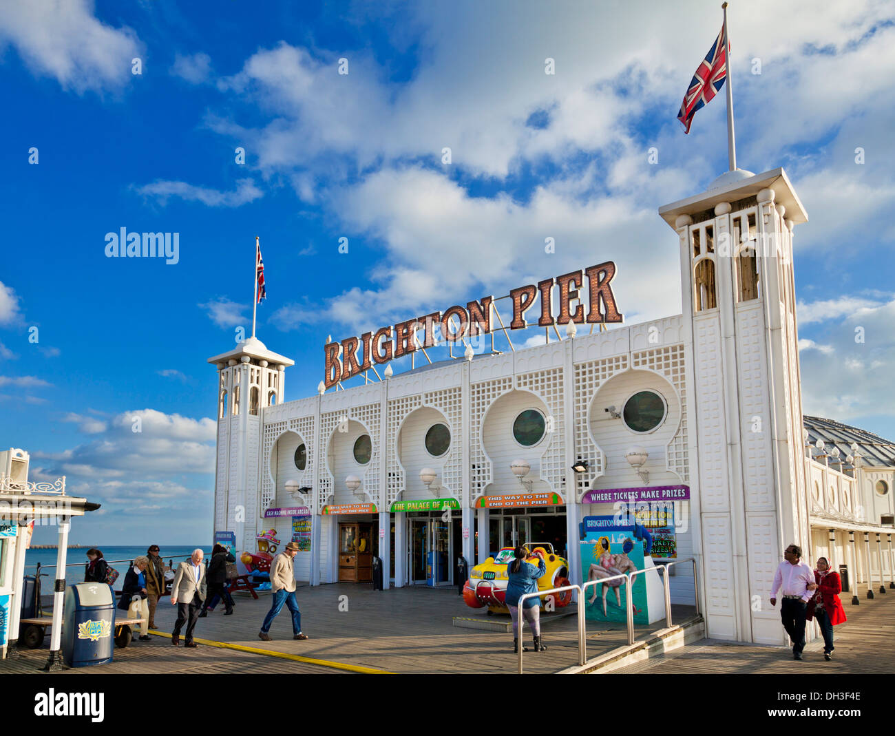Brighton pier brighton palace pier brighton west sussex england uk gb eu europe - Stock Image