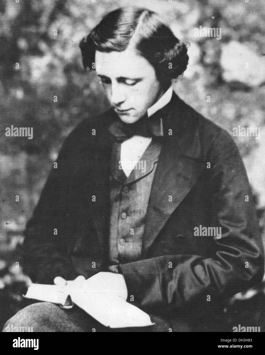 LEWIS CARROLL - Charles Dodgson (1832-1898) English writer about 1855 - Stock Image