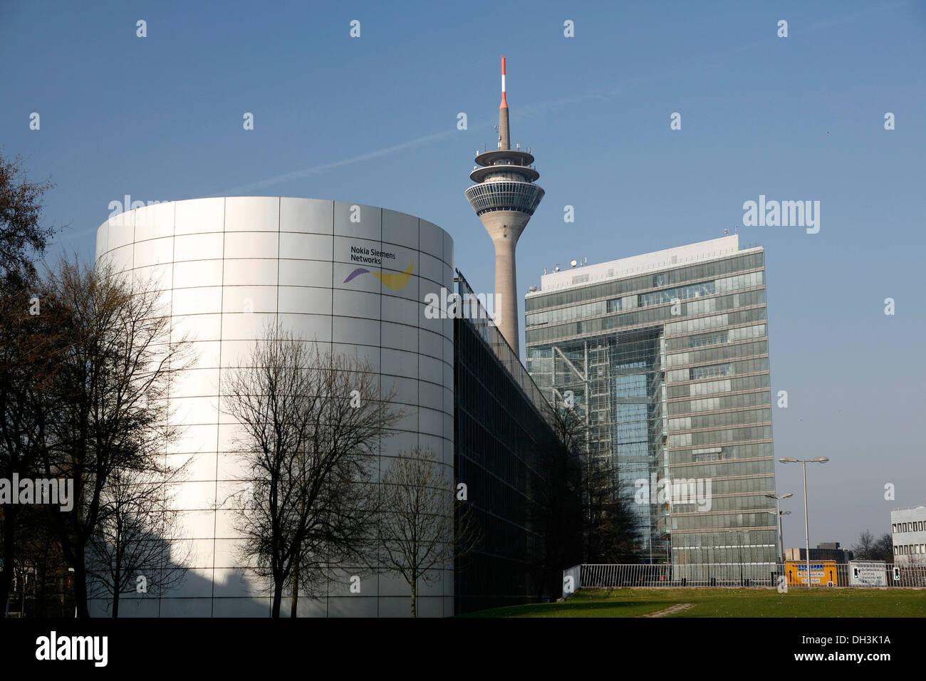 Stadttor, City Gate skyscraper, Duesseldorf, North Rhine-Westphalia Stock Photo