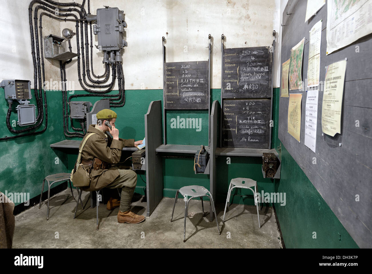 Shooting command post, Immerhof work, Maginot line. - Stock Image