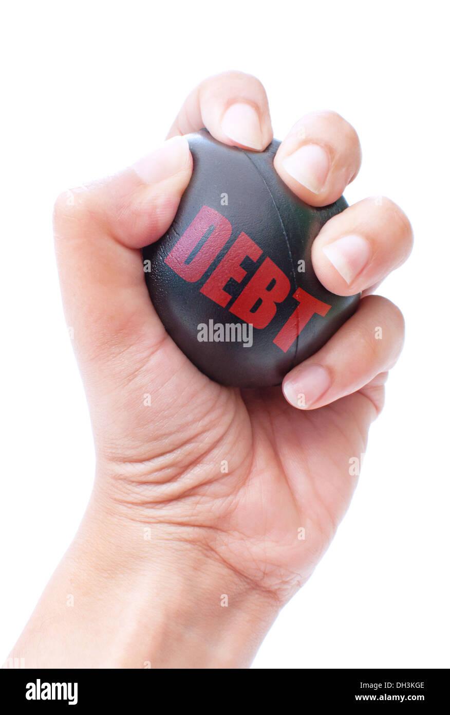 Debt reduction - Stock Image