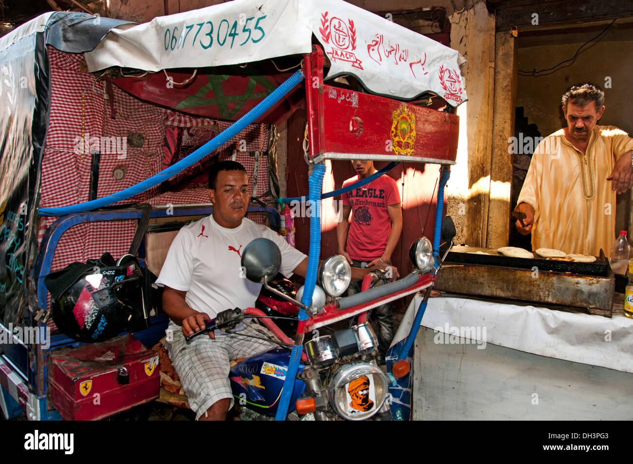 Marrakesh  Morocco motorcycle motorist motorbike - Stock Image