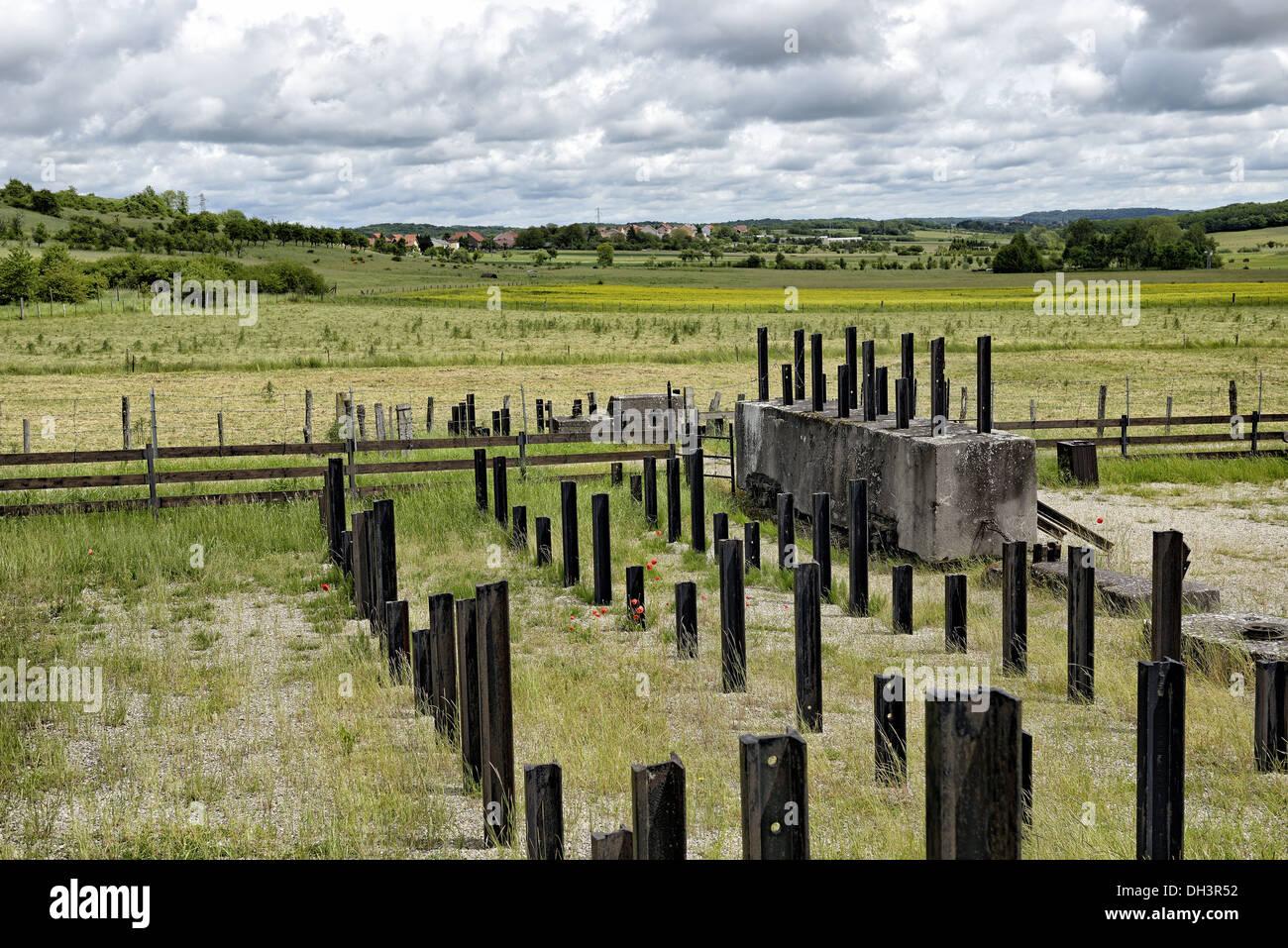 Defence line, Saillant de Barst, Maginot line. - Stock Image