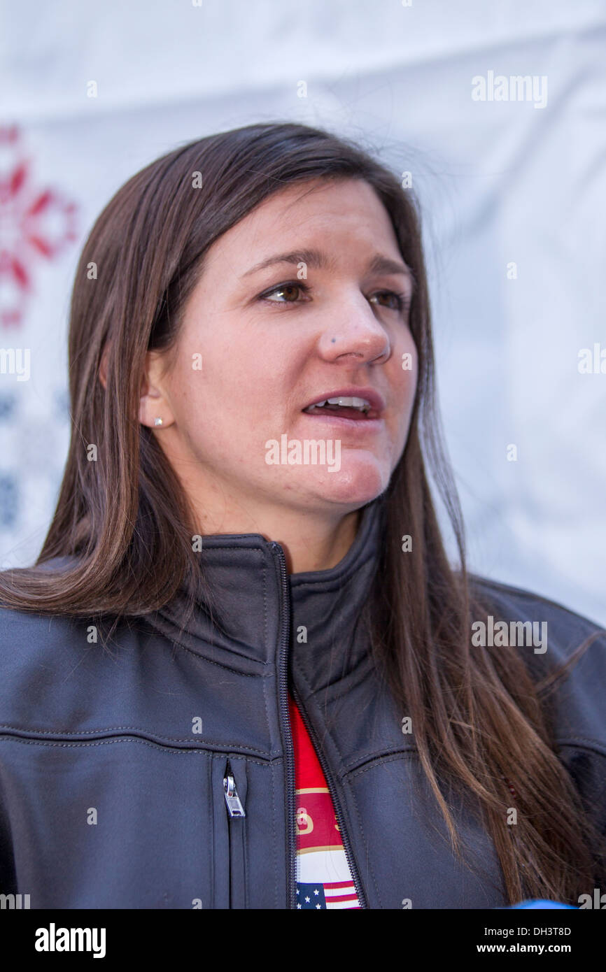 Kelly Clark at the USOC 100 Day Countdown to the Sochi 2014 Olympic Winter Games - Stock Image