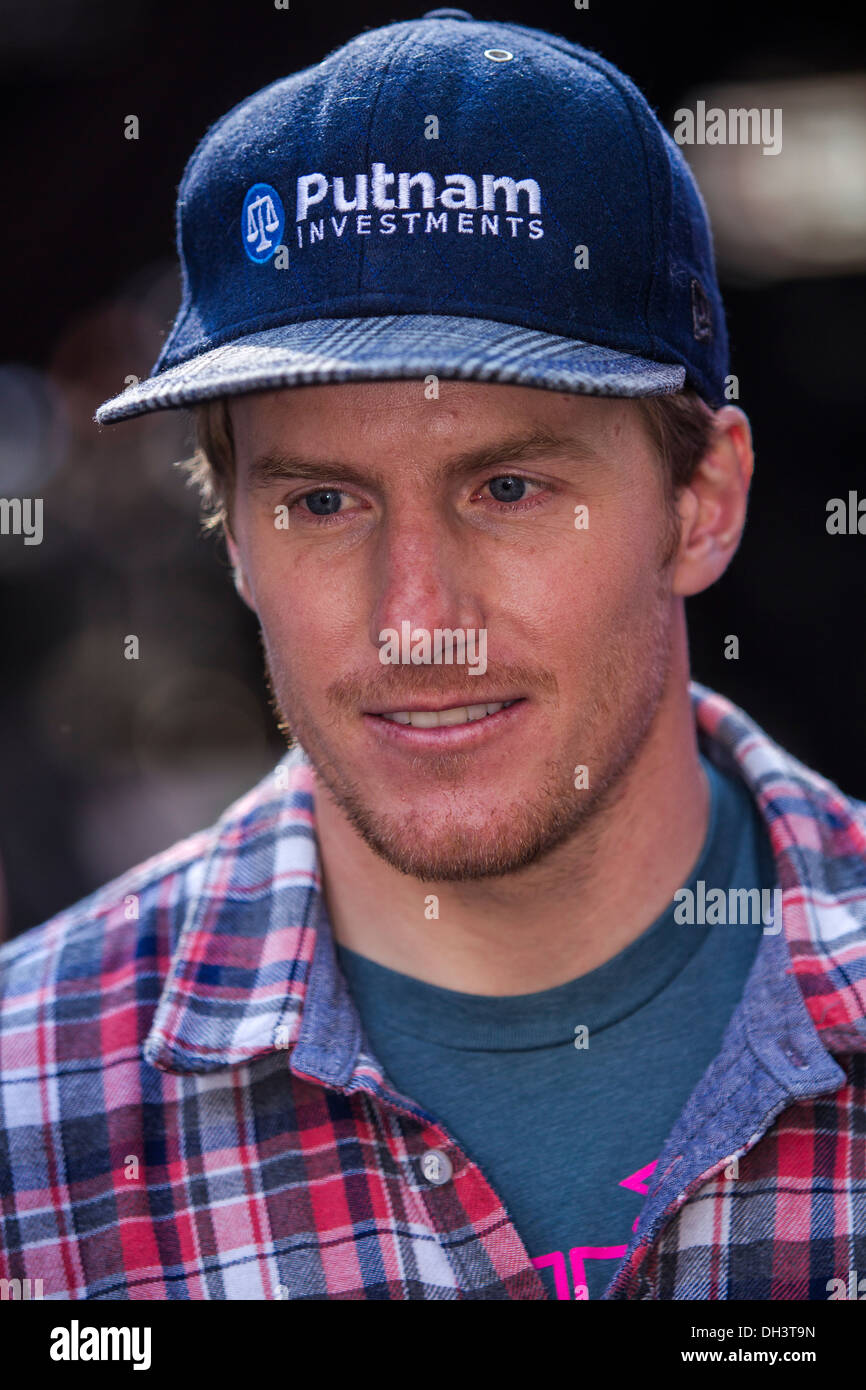 Ted Ligety at the USOC 100 Day Countdown to the Sochi 2014 Olympic Winter Games - Stock Image