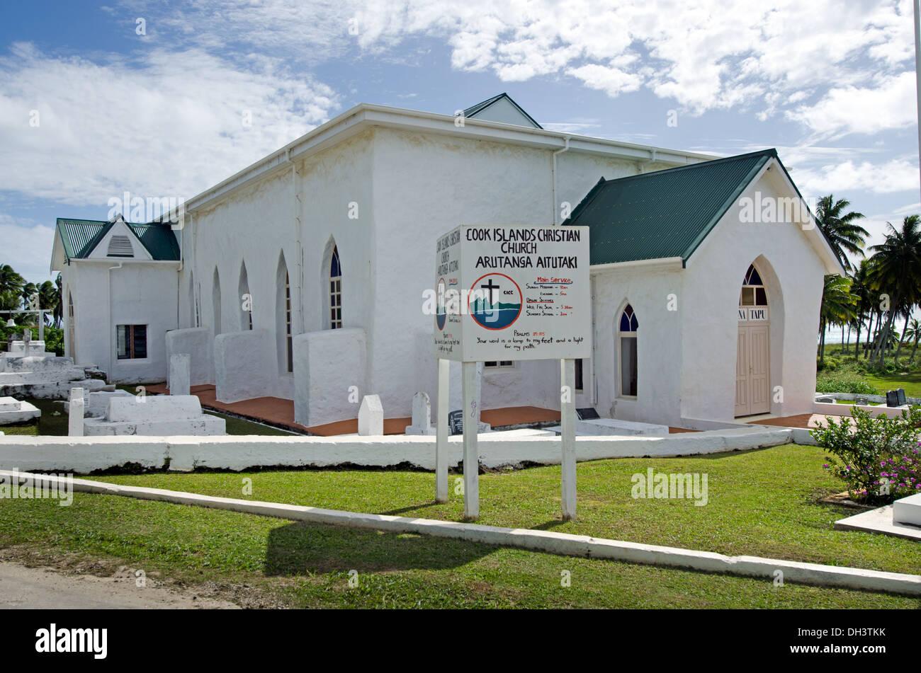 Aitutaki Cook Islands Christian Church (CICC) - Stock Image