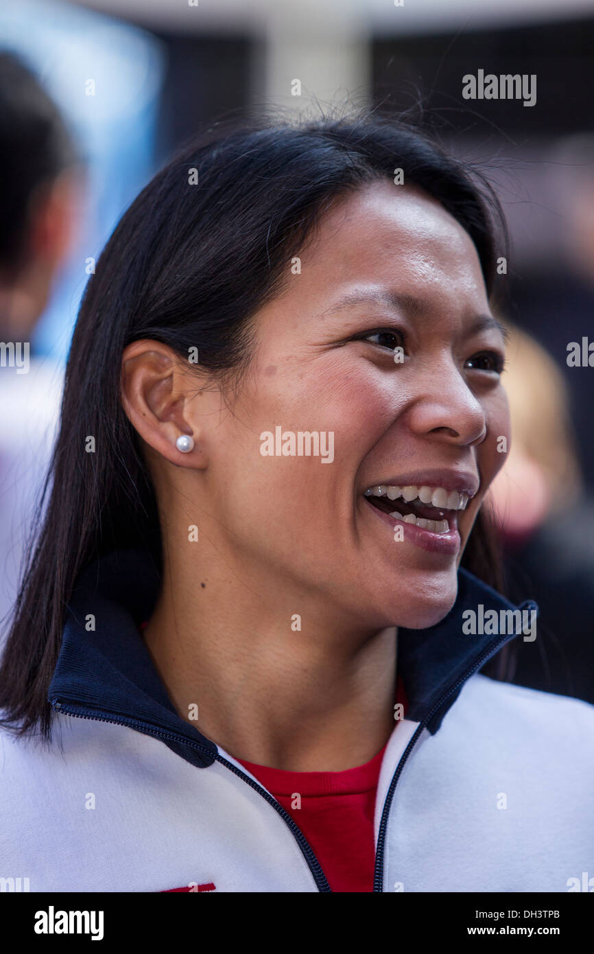 Julie Chu at the USOC 100 Day Countdown to the Sochi 2014 Olympic Winter Games - Stock Image