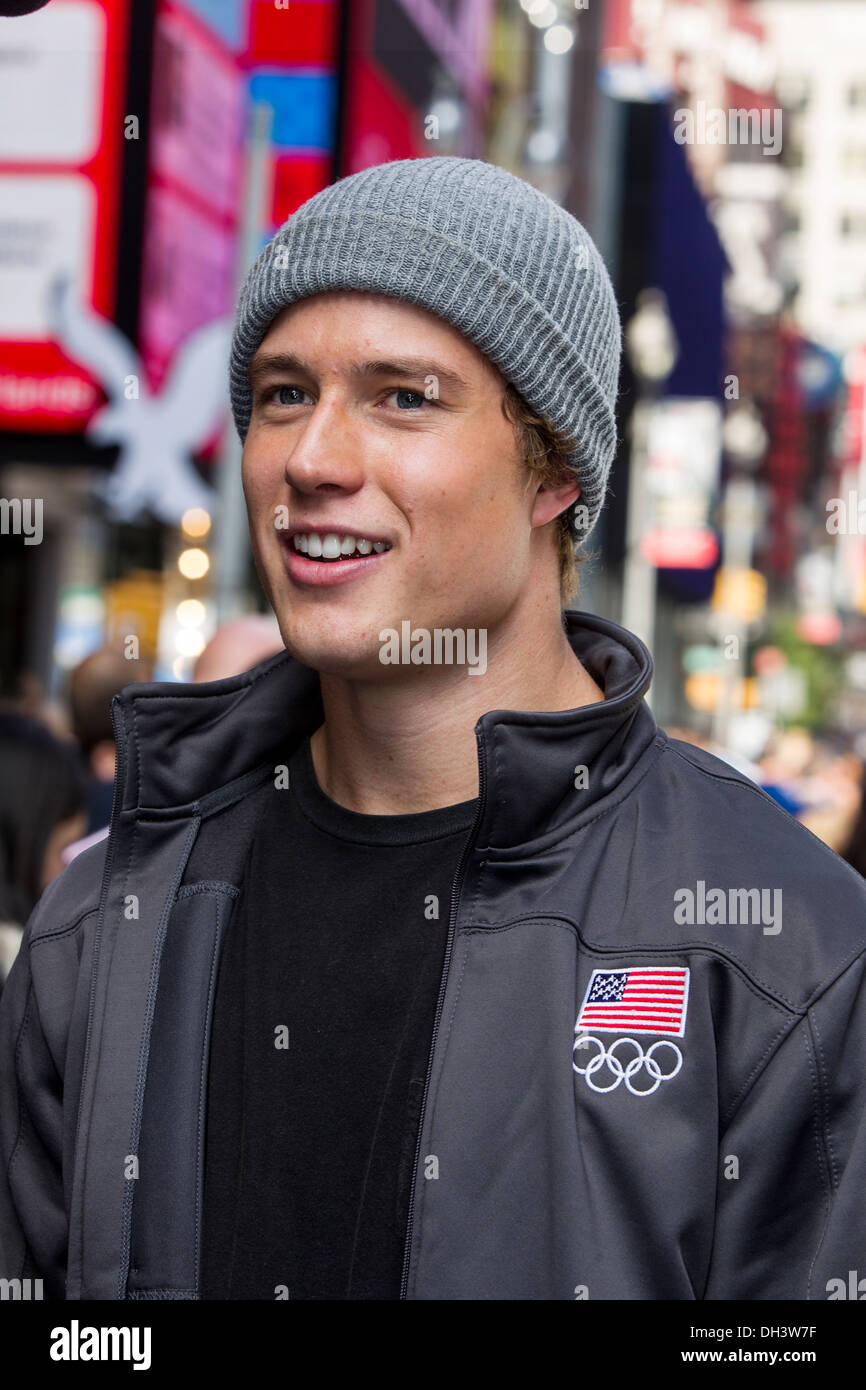 Alex Schlopy at the USOC 100 Day Countdown to the Sochi 2014 Olympic Winter Games - Stock Image