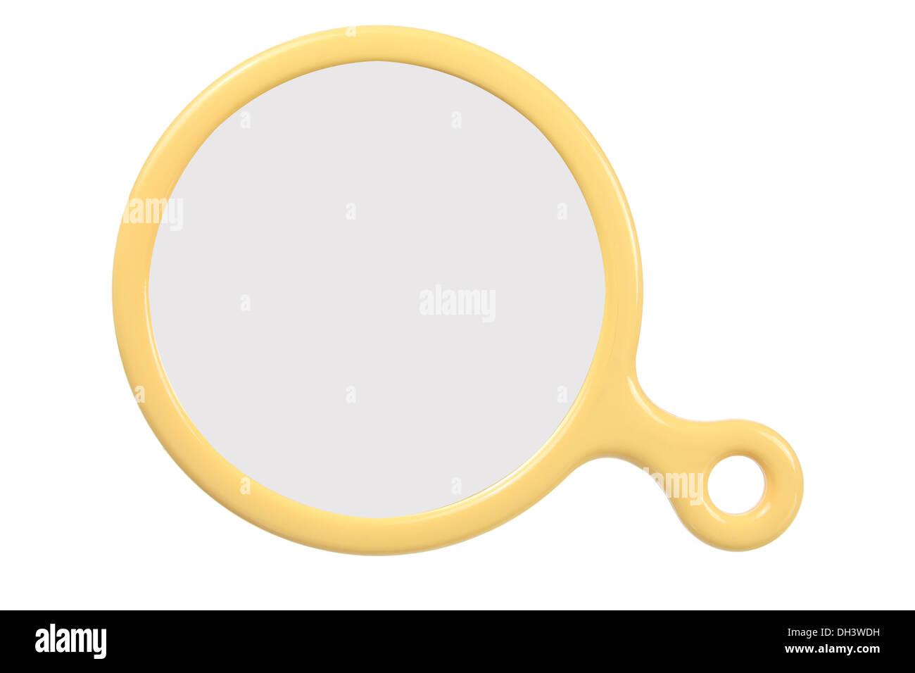 Round Hand Mirror - Stock Image