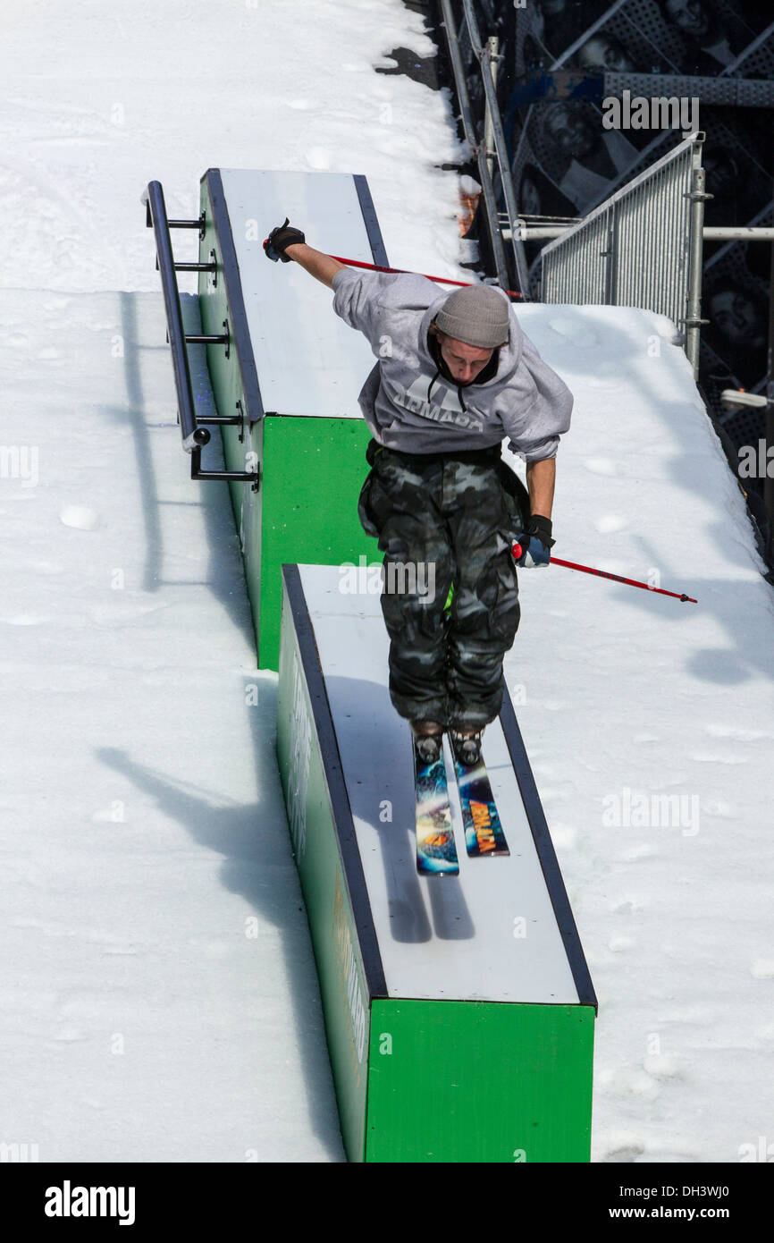 Torin Yater-Wallace at the USOC 100 Day Countdown to the Sochi 2014 Olympic Winter Games - Stock Image