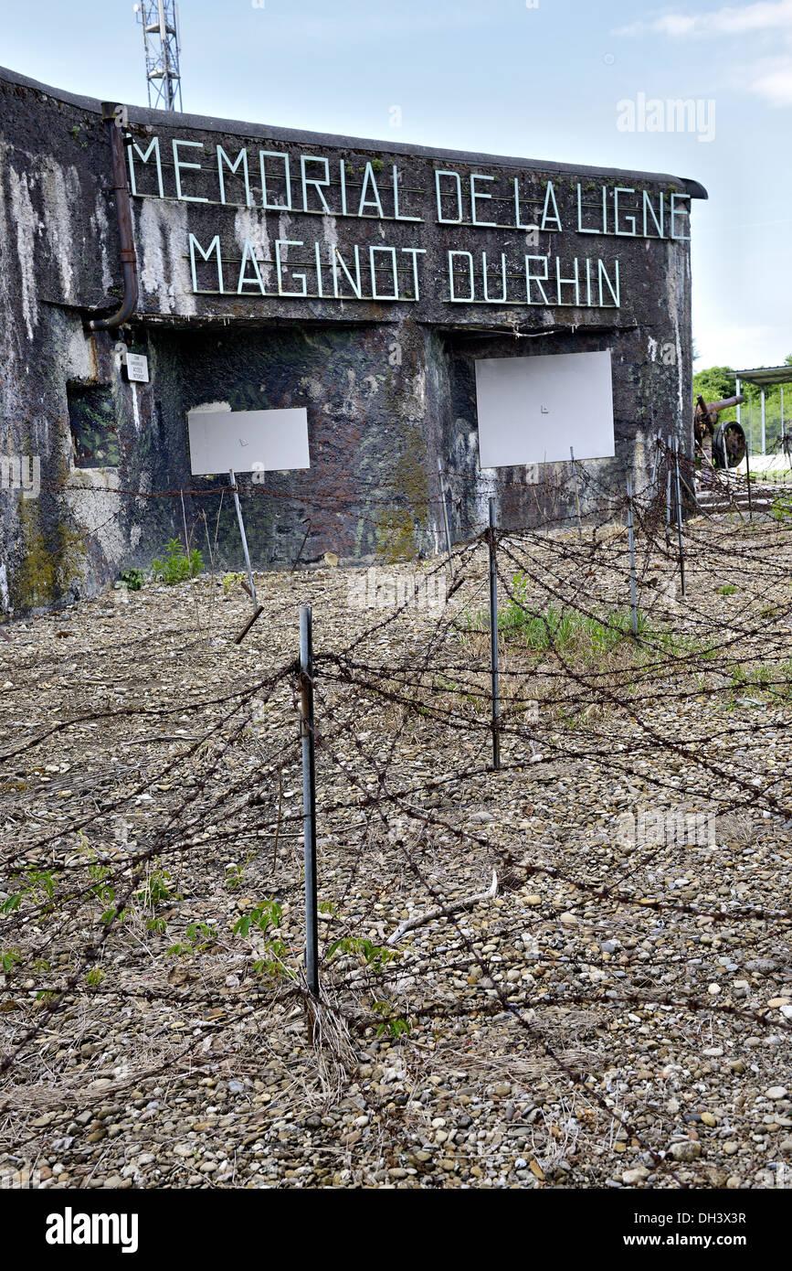 Marckolsheim bunker, Maginot line. - Stock Image