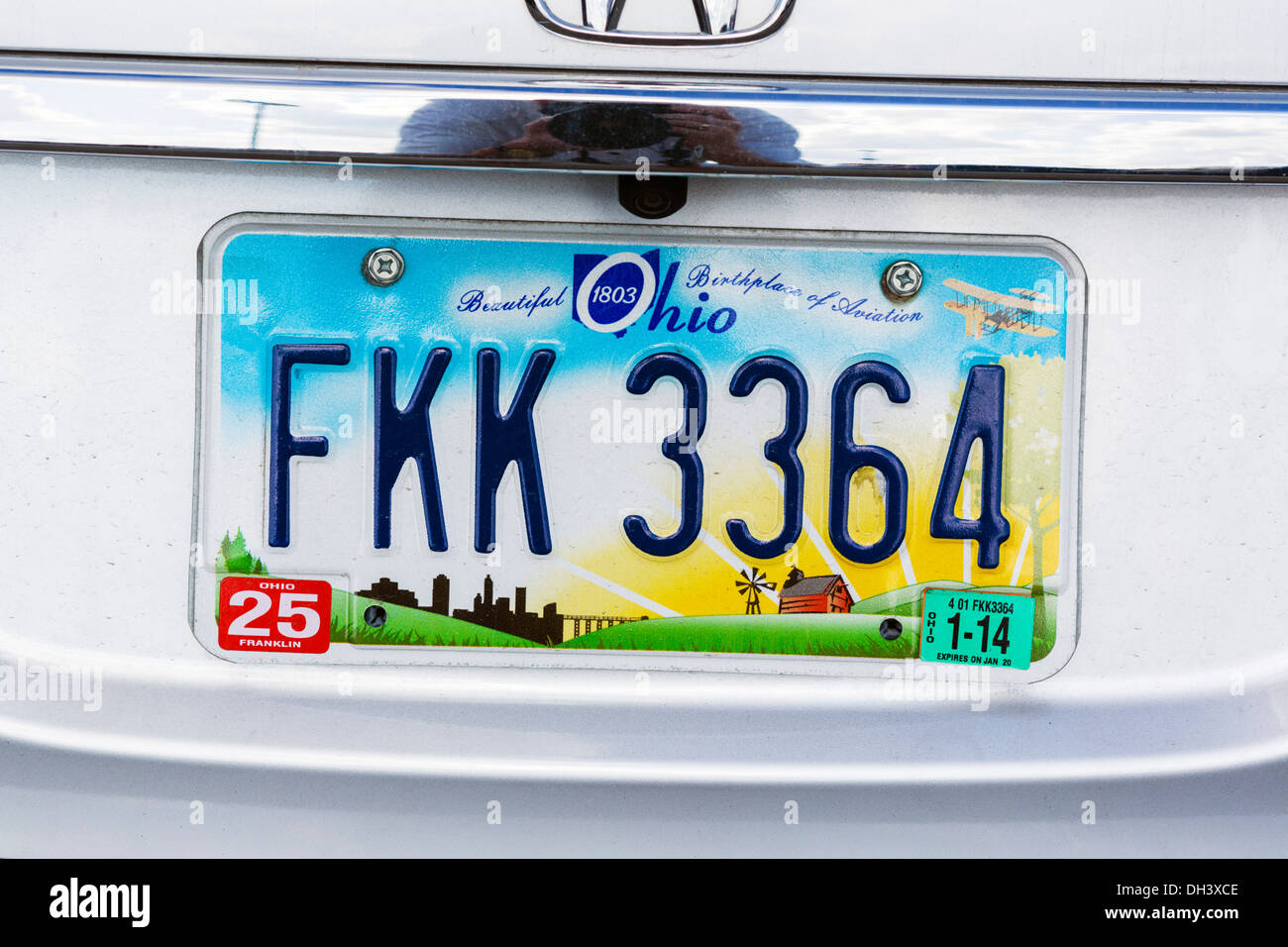 Ohio state license plate, USA - Stock Image