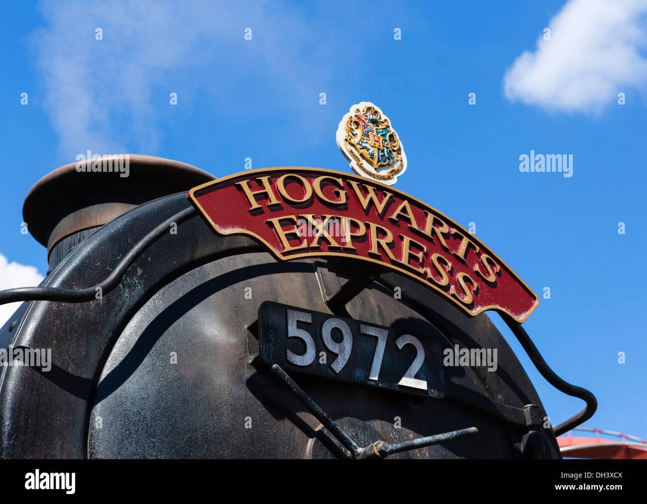Hogwarts Express train in Wizarding World of Harry Potter, Islands of Adventure, Universal Orlando Resort, Orlando, - Stock Image