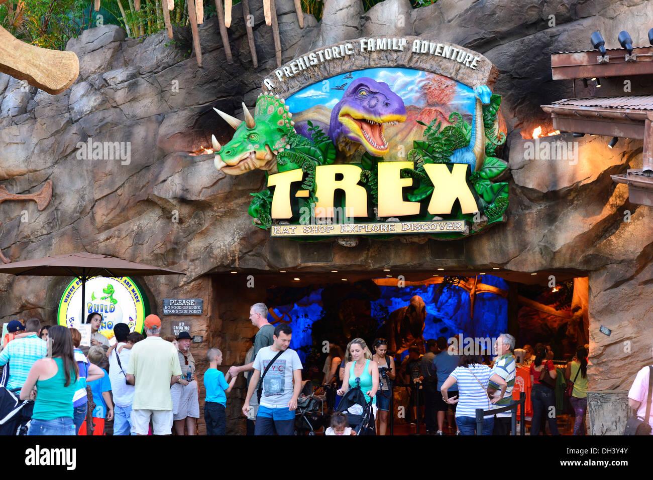 T Rex Restaurant In Downtown Disney Orlando Fl