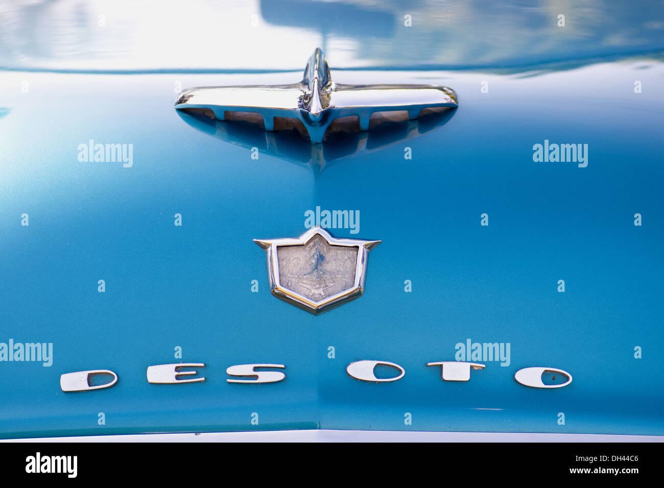 Antique Desoto Car Logo symbol - Stock Image