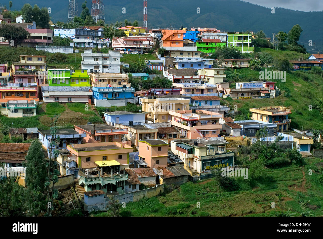 hillside dwelling houses ooty ootacamund tamil nadu india stock rh alamy com ooty house images ooty house images