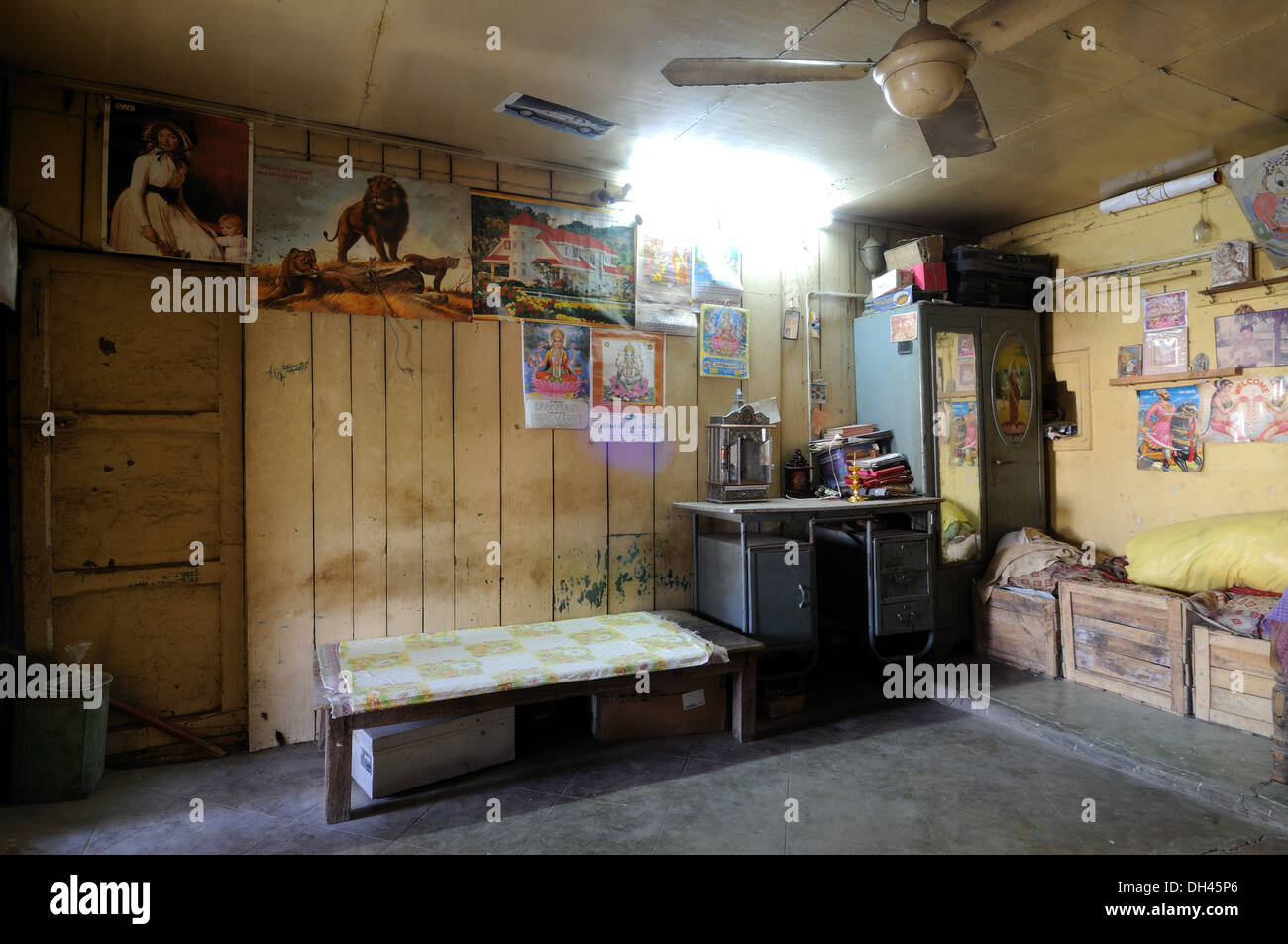 Interior Of Old Village House Gujarat India