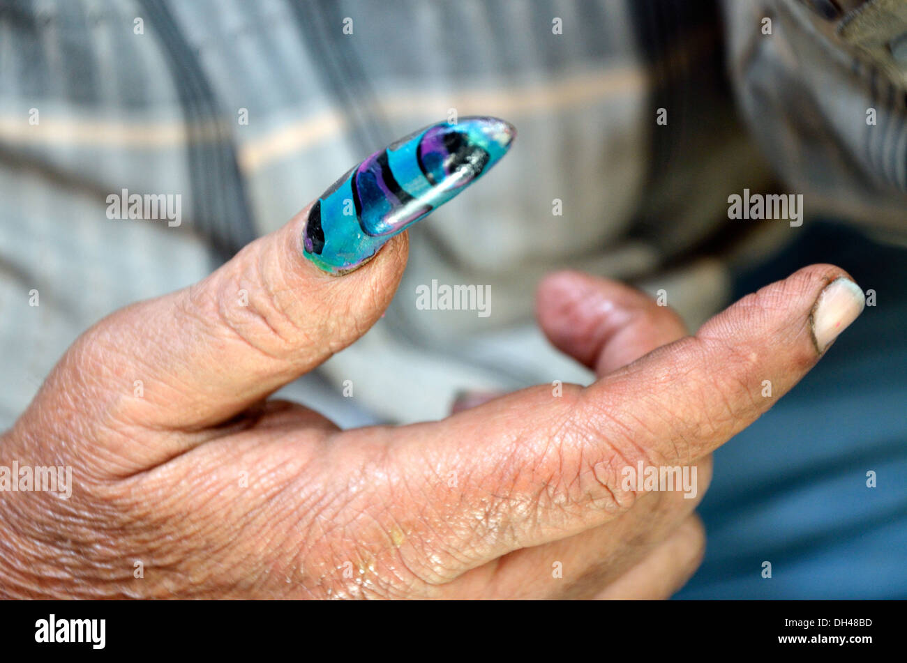 Detail Hand Man Painted Nails Stock Photos & Detail Hand Man Painted ...