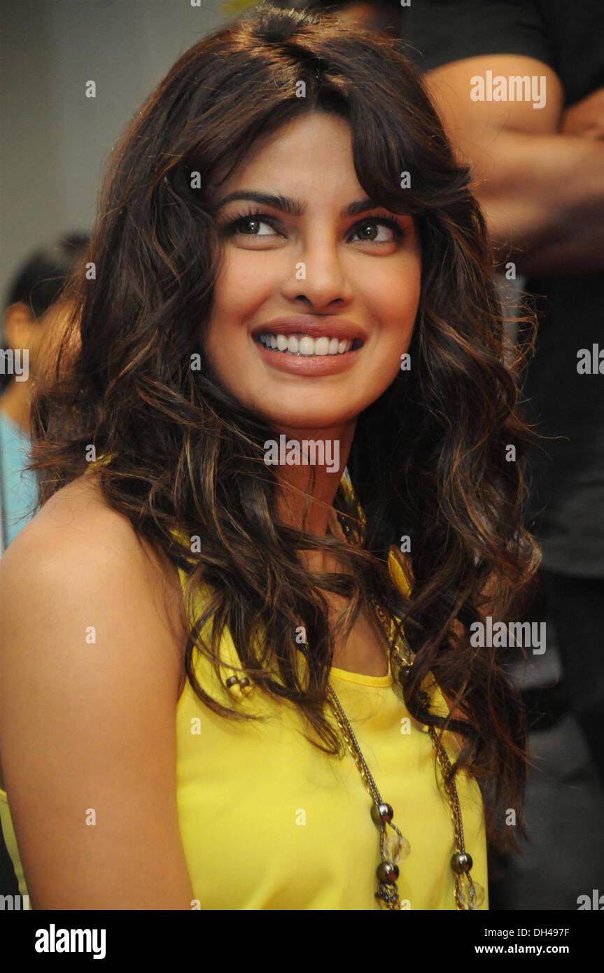 Indan Bollywood Film Actress Priyanka Chopra India Asia Stock ...