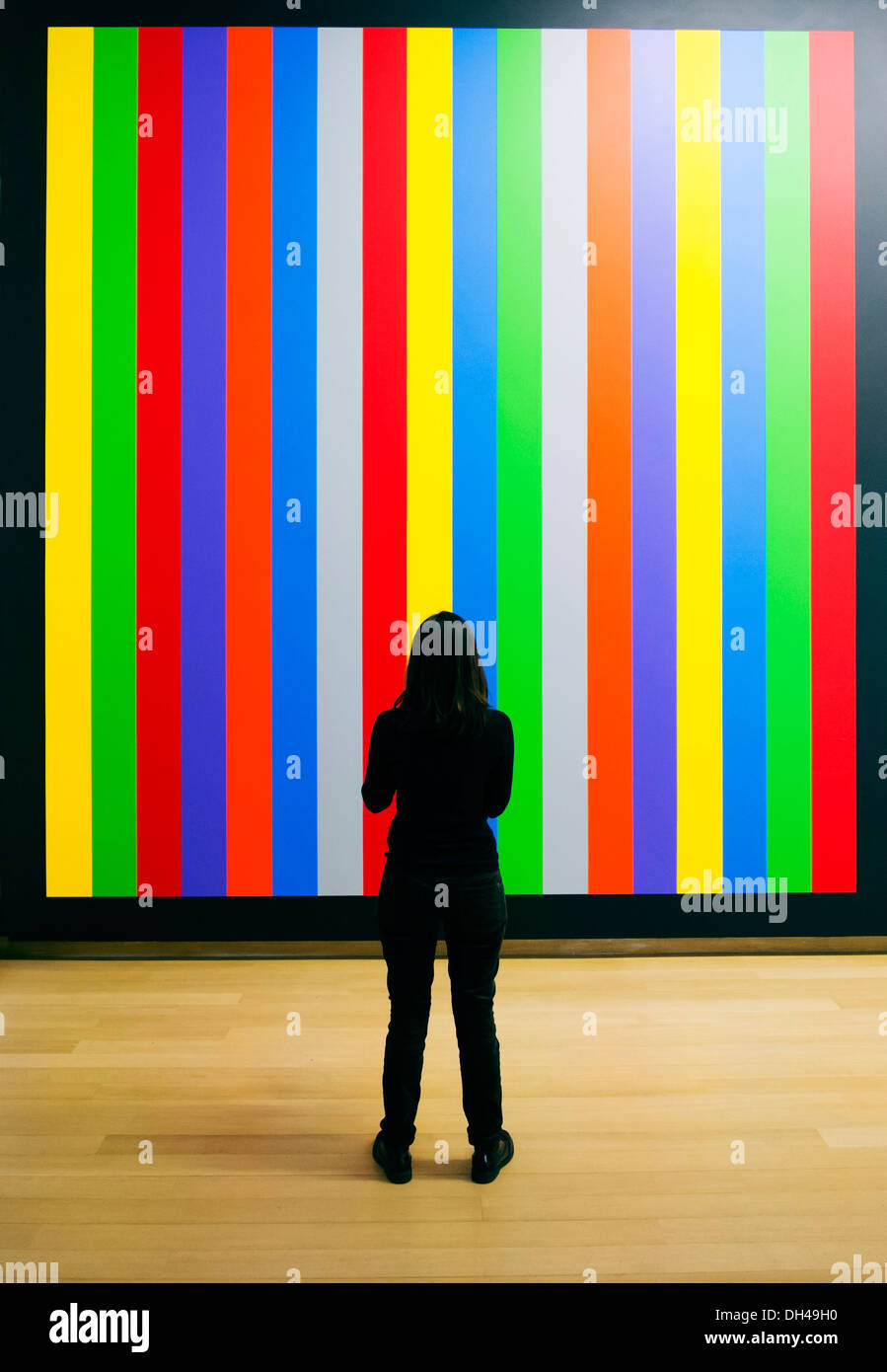 Painting Wall Drawing #1084 by Sol Lewitt at Stedelijk Museum in Amsterdam The Netherlands - Stock Image