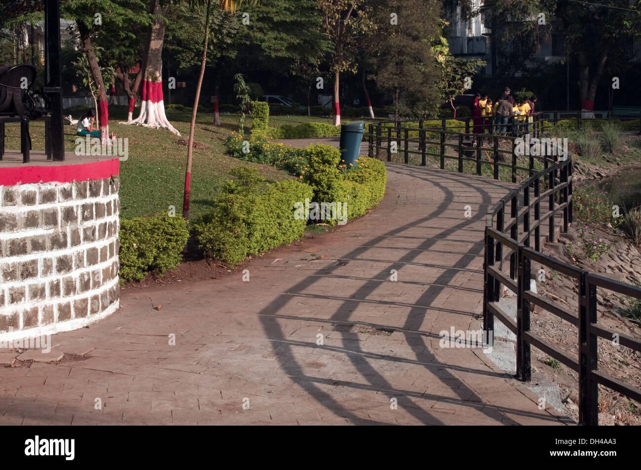 Walking path in garden Pune Maharashtra India Asia Feb 2012 - Stock Image
