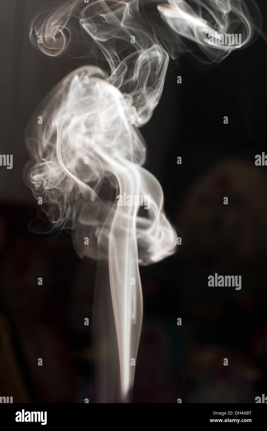 Smoke black white abstract - Stock Image