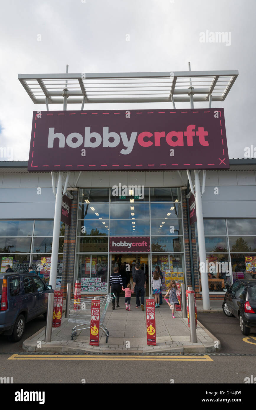 The Hobbycraft shop on the Beehive Retail Park Cambridge UK - Stock Image