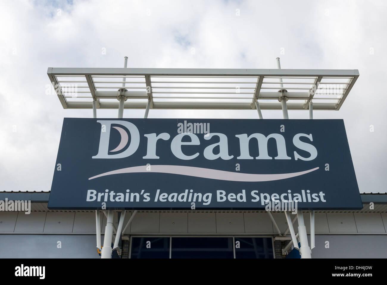 The Dreams Bed Shop Cambridge UK - Stock Image