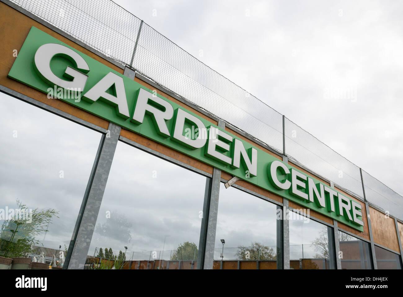 The Homebase garden centre sign Cambridge UK - Stock Image