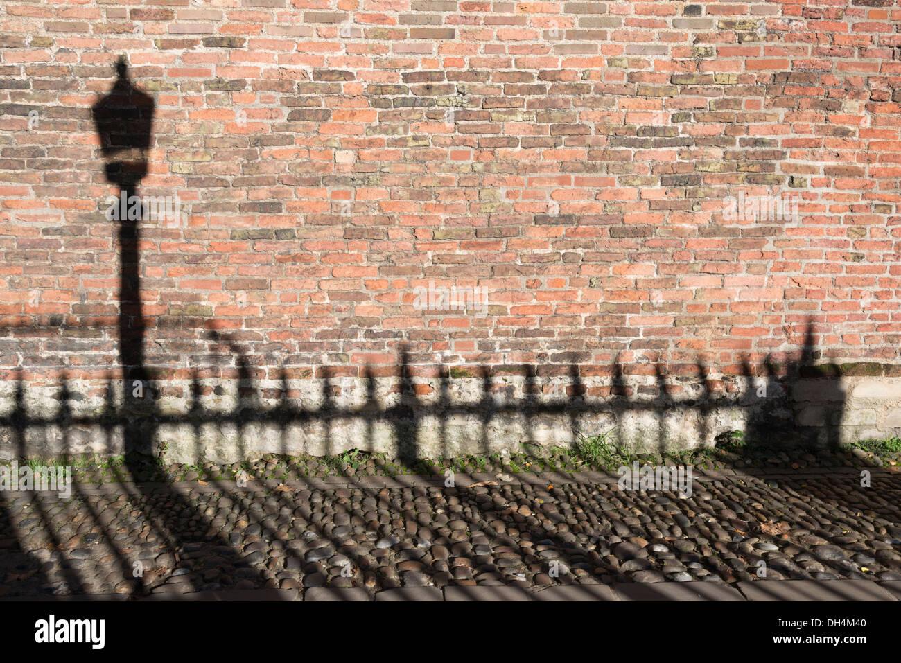 brick wall lamp outside lighting stock photos brick wall lamp