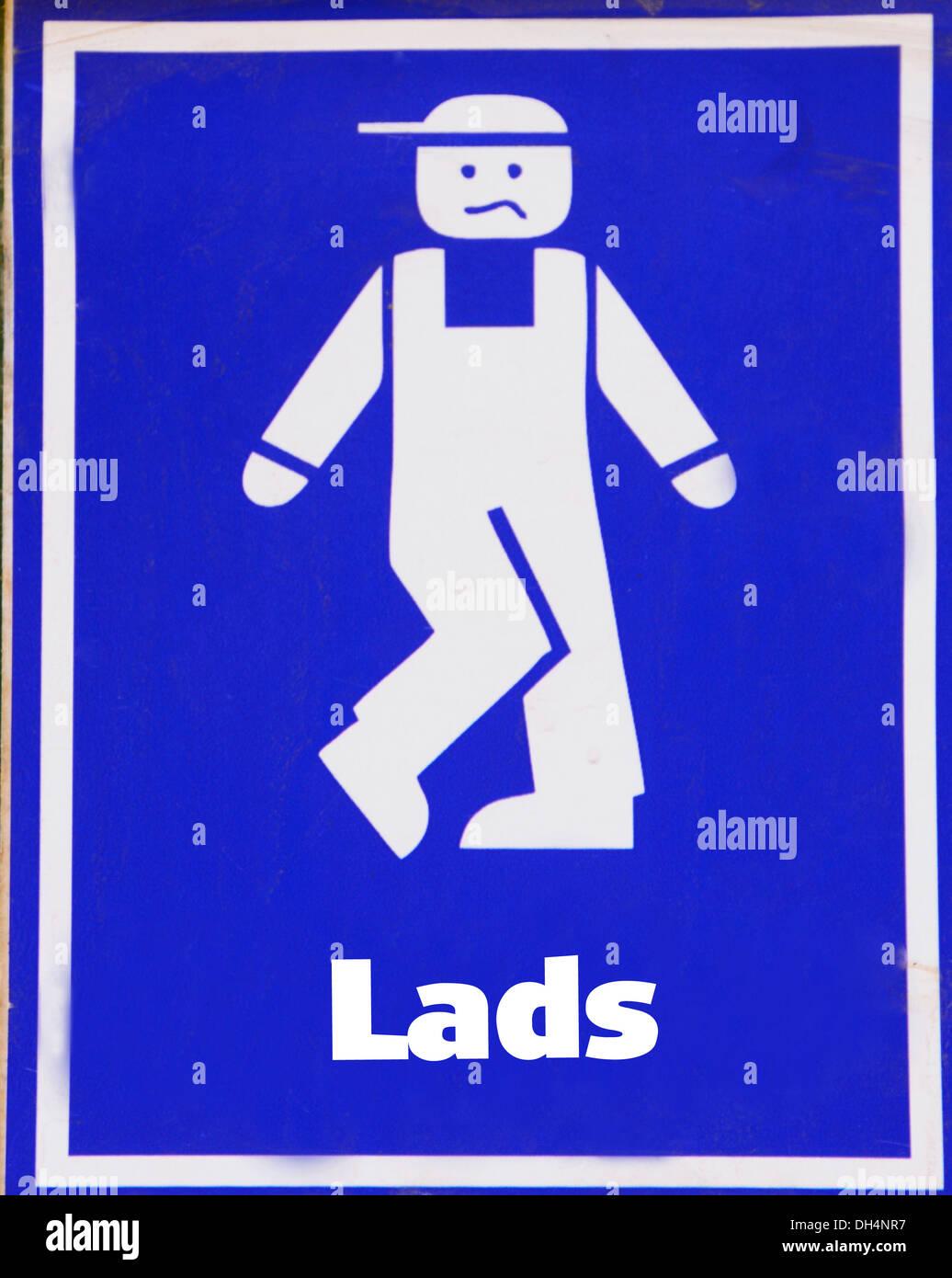 Amusing 'Gent Toilet' signage. - Stock Image