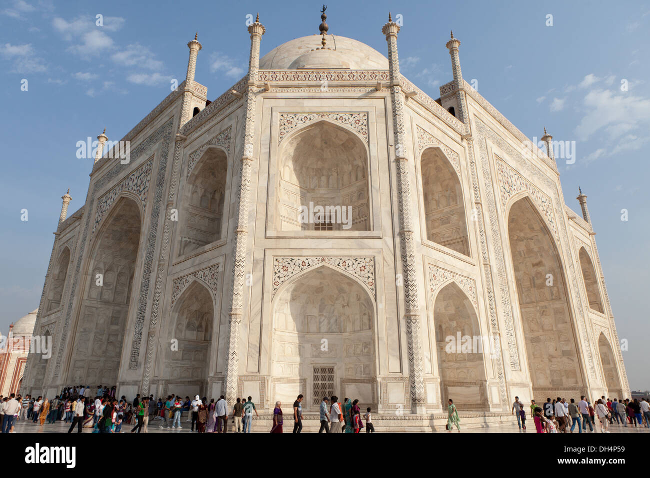 A different look to Taj Mahal in Agra,India - Stock Image
