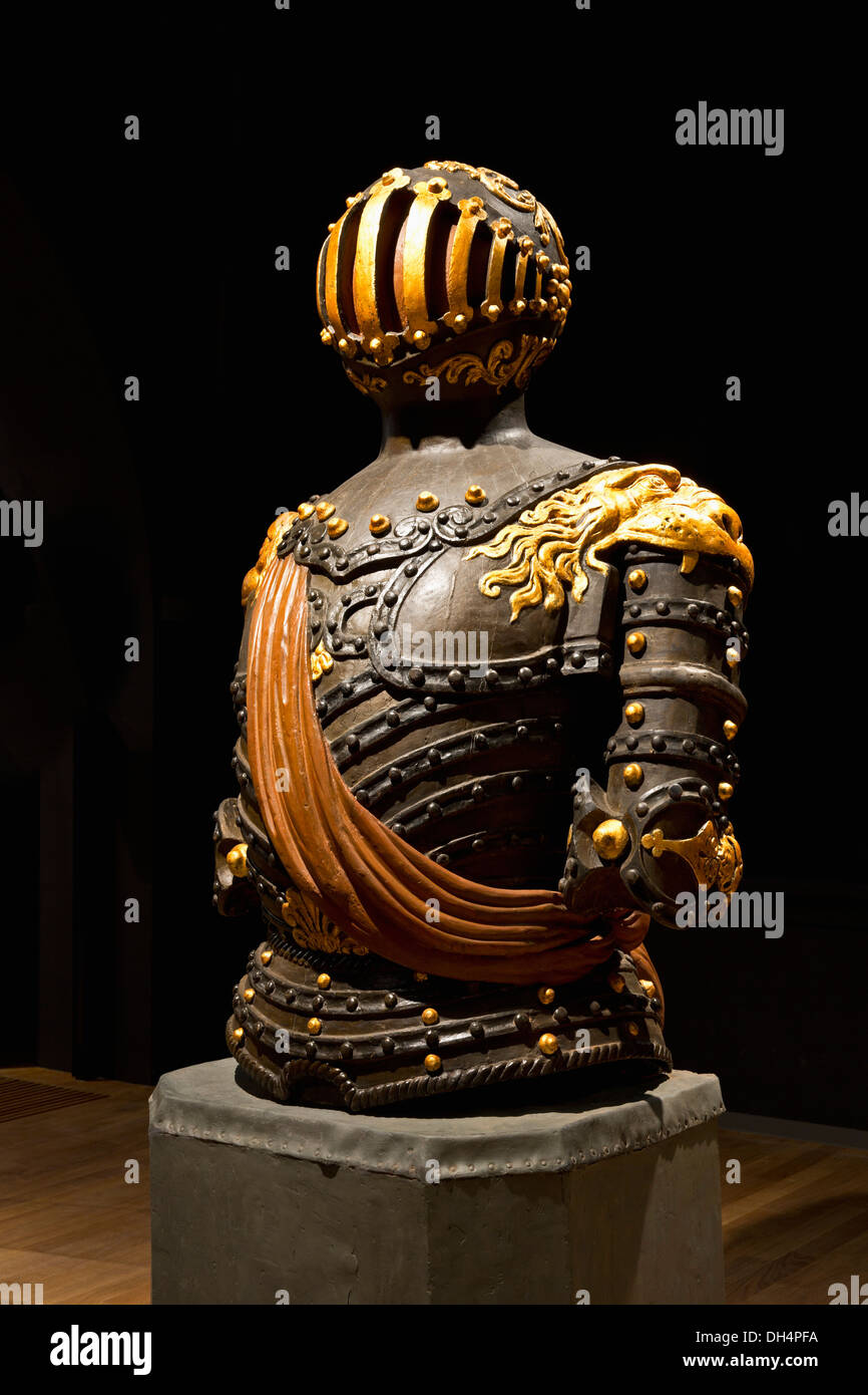 Netherlands, Amsterdam, Rijksmuseum or National Museum. Figurehead in shape of a harness from the frigate Prins van Oranje, 1844 - Stock Image