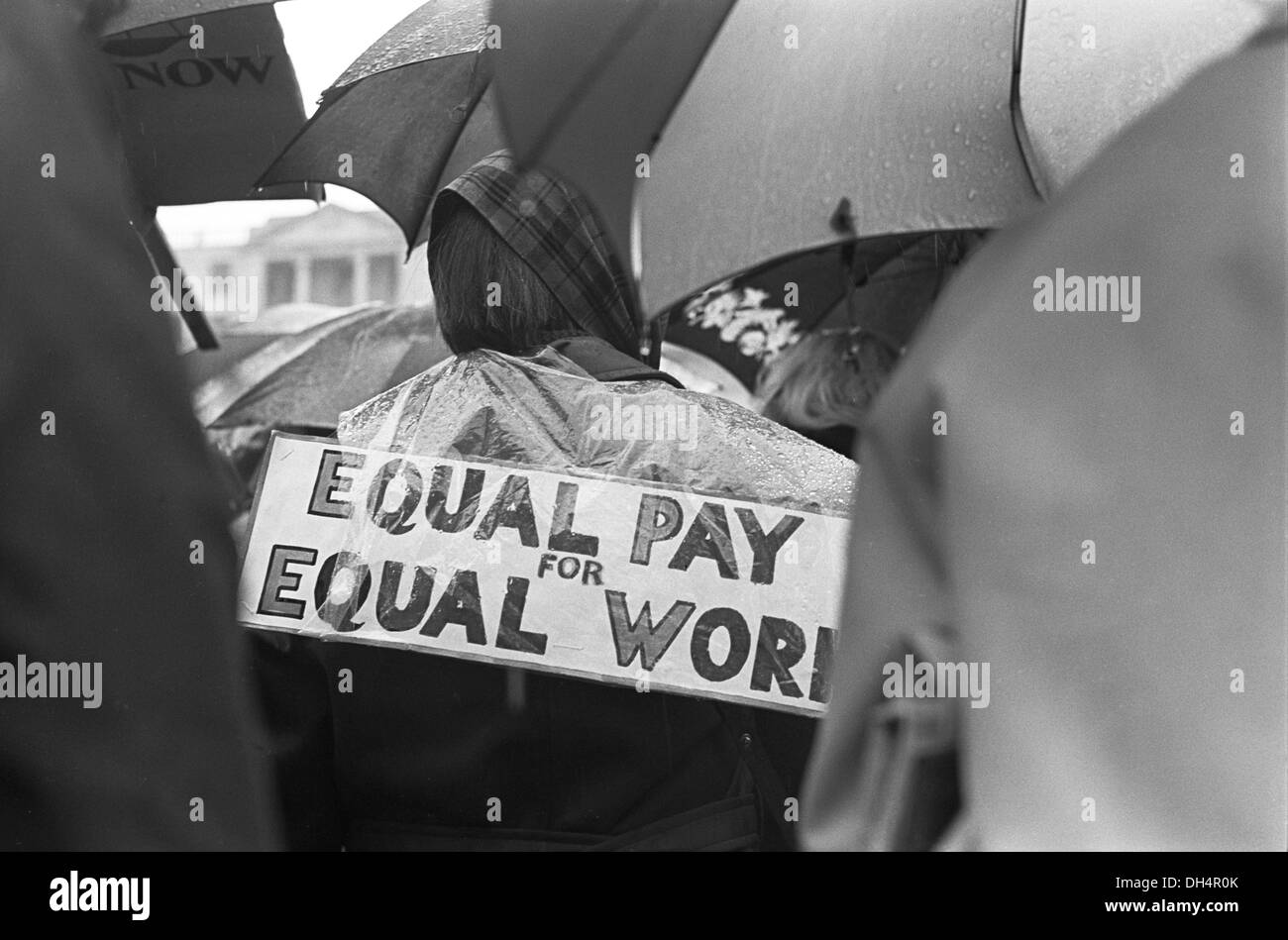 Womens Rights. Equal Pay for Women. Rally Trafalgar Square London England 1968. 1960s England. HOMER SYKES - Stock Image