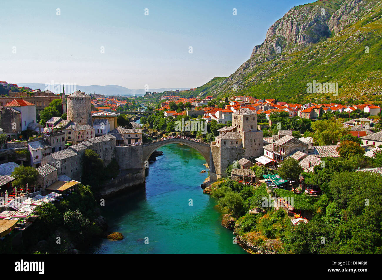 Rebuilt Stari Most bridge in Mostar, Bosnia-Herzegovina. Stock Photo