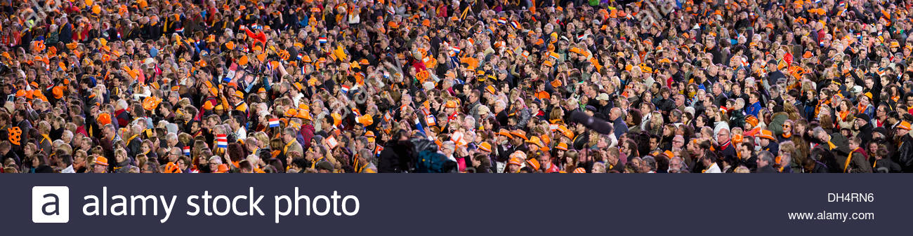 Netherlands, 30 April 2013, Inauguration King Willem-Alexander. Kingsball Museumplein with the orchestra of Andre - Stock Image