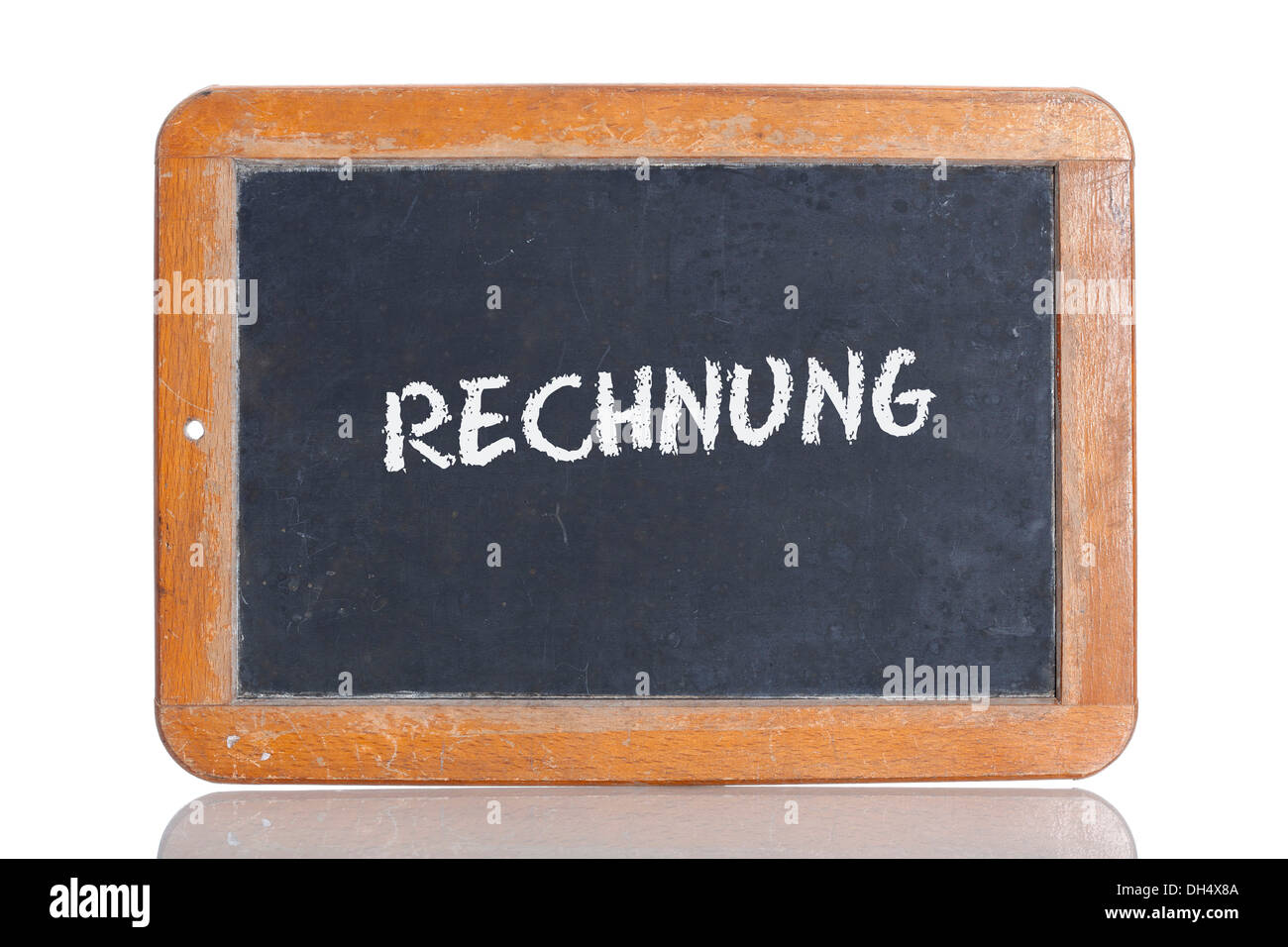 Old School Blackboard With The Word Rechnung German For
