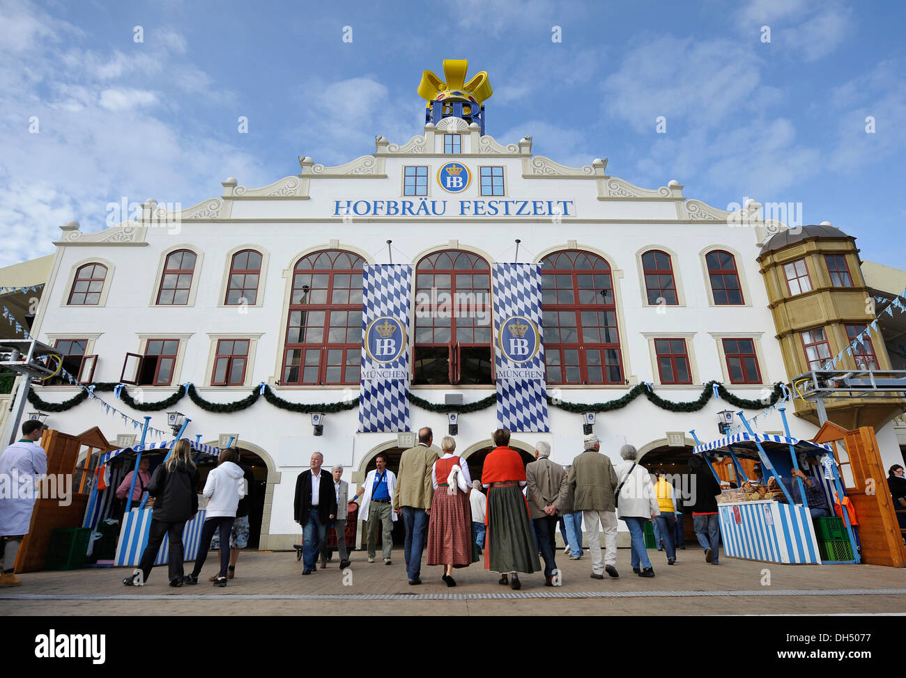 Hofbraeu brewery's beer tent at the 178th Oktoberfest 2011, Munich, Bavaria - Stock Image