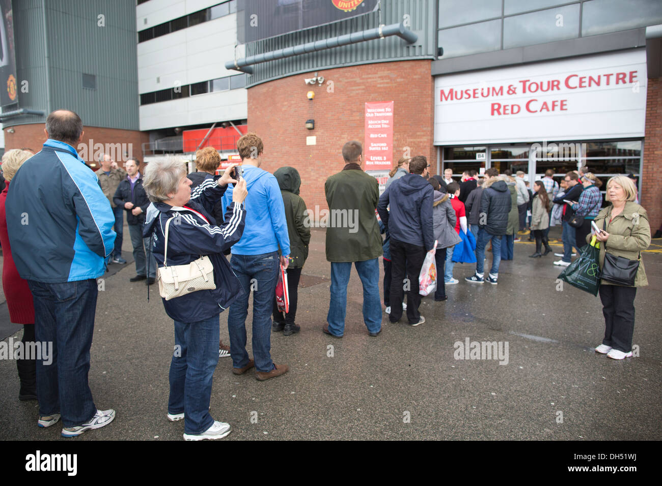 Old Trafford Football Stadium, in the Stretford area of Greater Manchester home of Manchester United Football Club, - Stock Image