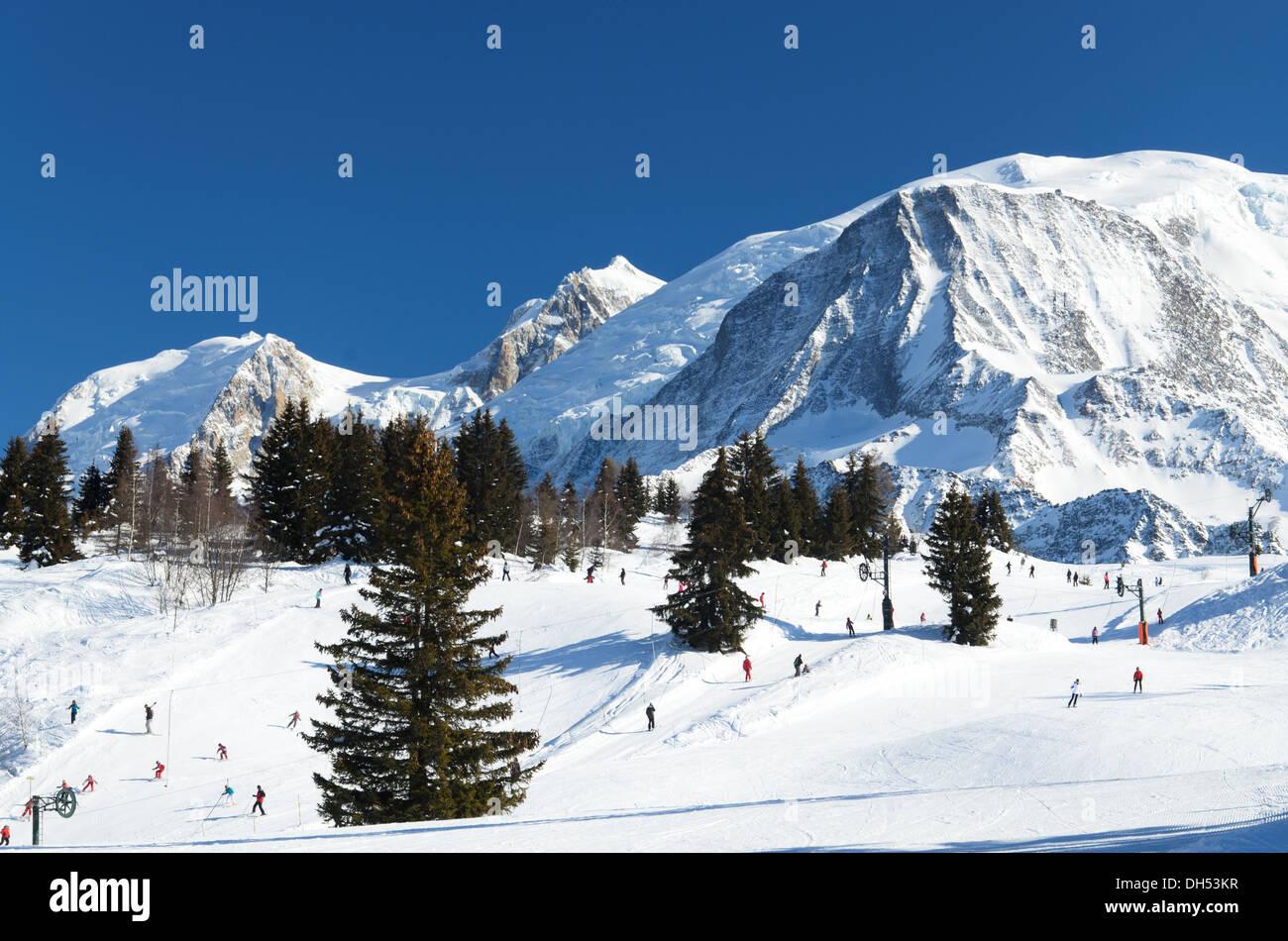 Chamonix ski resort - Stock Image