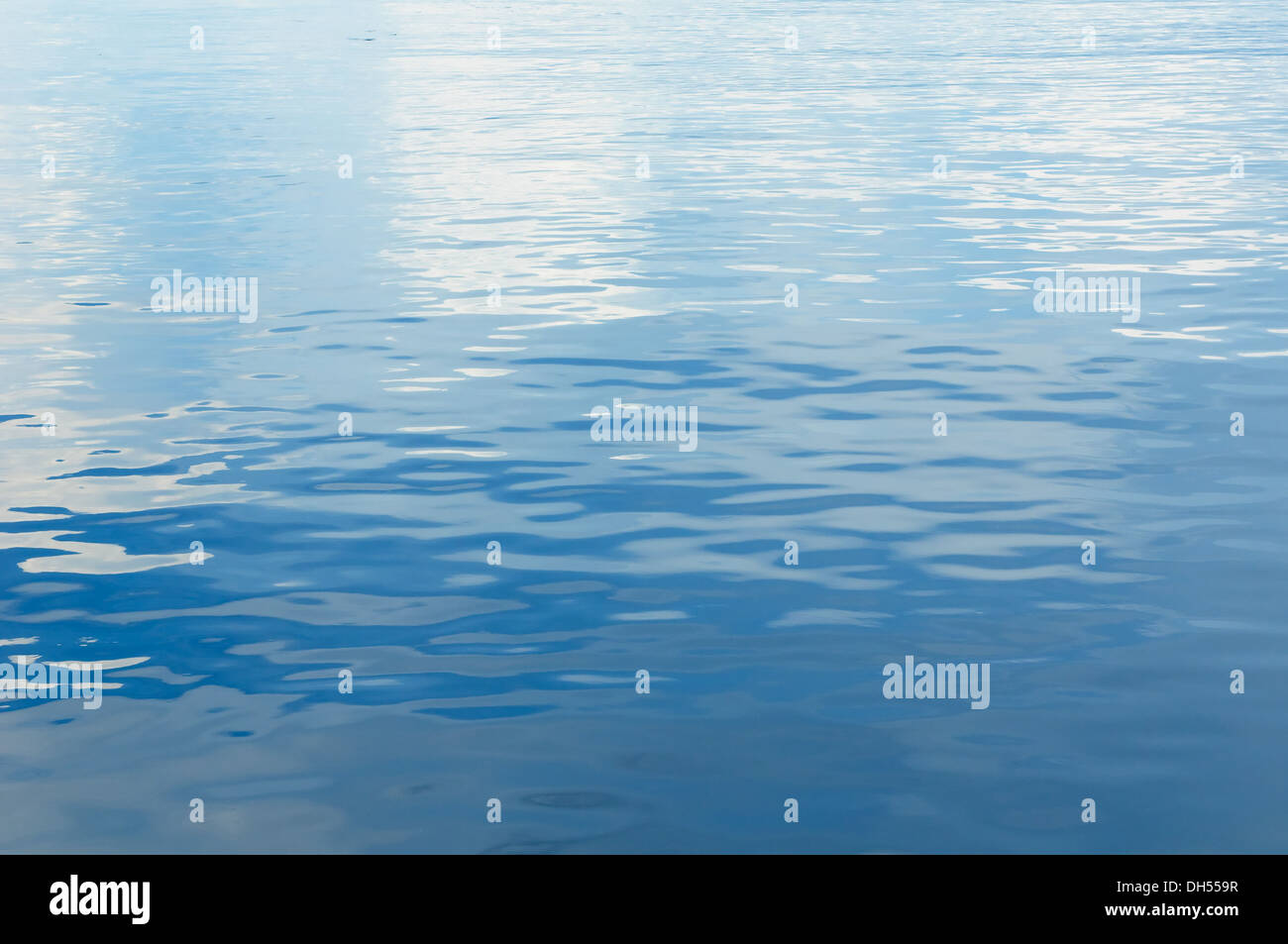 background of blue rippled water - Stock Image