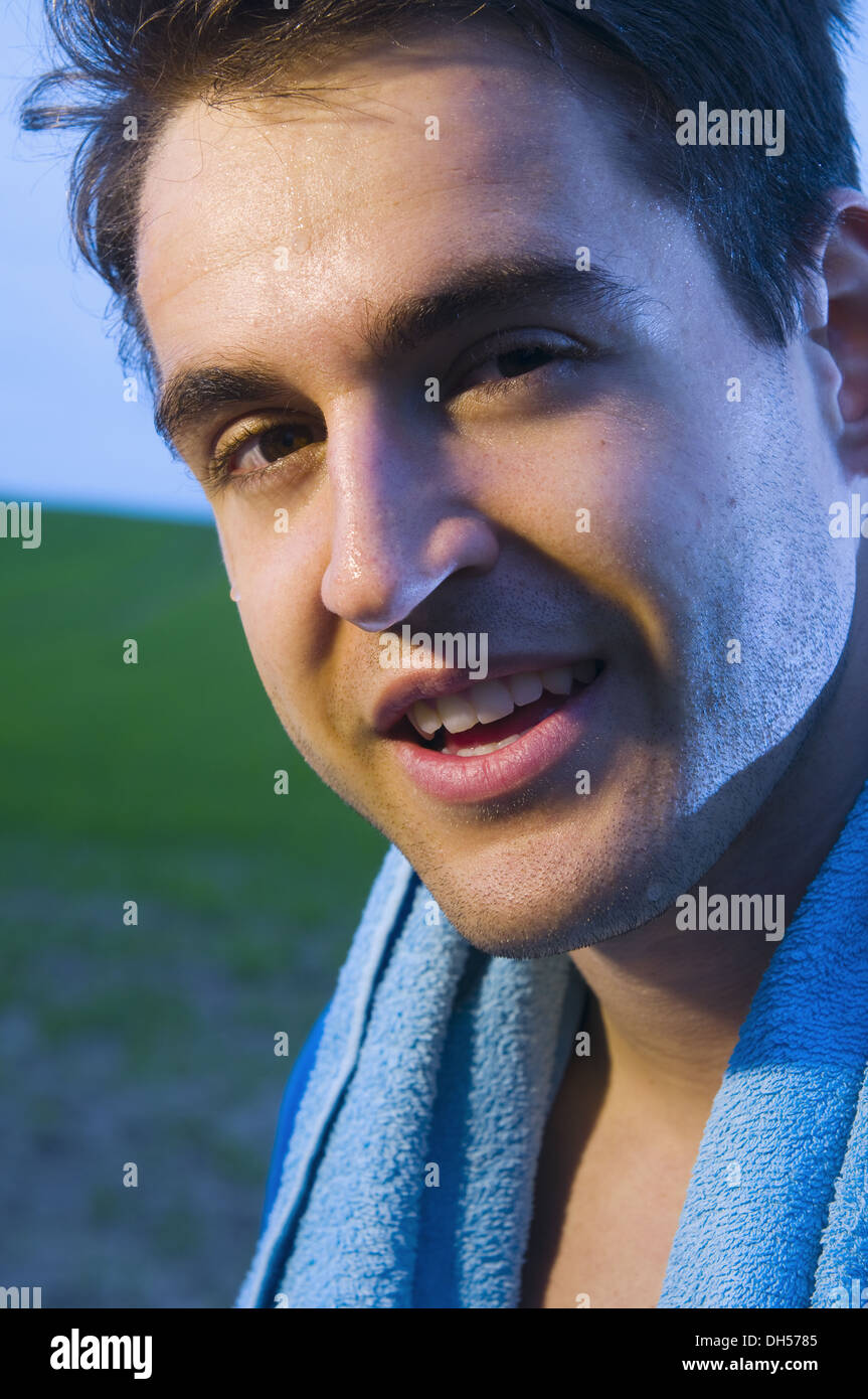 sweat after sport - Stock Image
