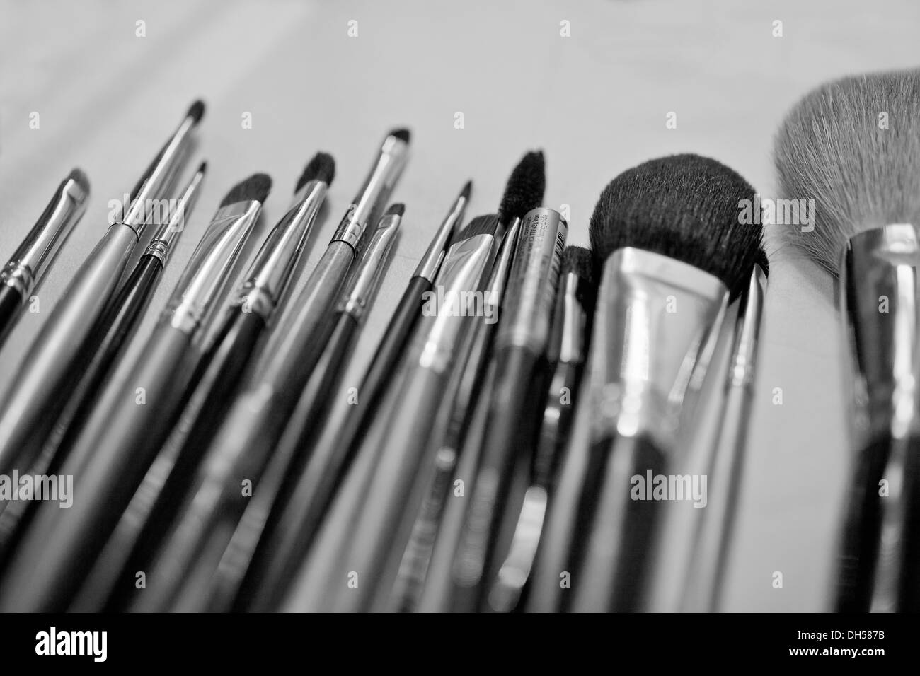Makeup brushes - Stock Image